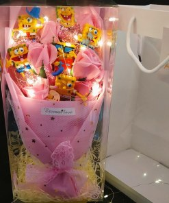 Disney Stitch Doll Lilo Stitch Plush Toy Lilo And Stich Flower Bouquet With Fake Soap Flower
