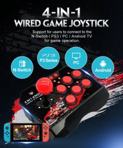 in  USB Rocker Game Controller Arcade Joystick Gamepad Street Fighting Stick For PS PC