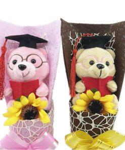 Cartoon Panda Teddy Bear Owl Plush Bouquet Stuffed Animals Creative Bouquet Gift Box Valentine s Day