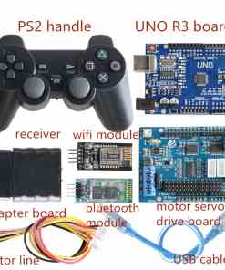 Wireless Controller Kit For RC Robot Arm Chassis Part  Way Motor  Way Servo Drive