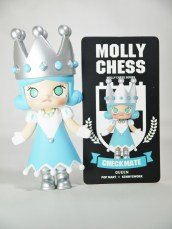 Pop Mart Kennyswork MOLLY CHESS CLUB CHECKMATE QUEEN BLUE 09