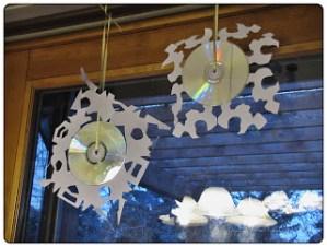 CD snowflakes, CDs