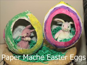 Paper Mache, Easter, Paper Mache Eggs, How to Paper Mache