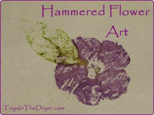 hammered flower art