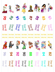 Disney Countdonw Chain 1.13(1) 7