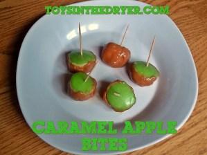 mini caramel apple bites