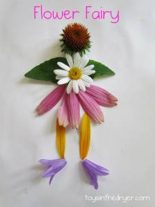 flower fairy, flower fairies, how to make a flower fairy, crafts with flowers