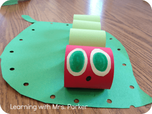 The Very Hungry Caterpillar, The Very Hungry Caterpillar Crafts, Learning with Mrs. Parker Blog