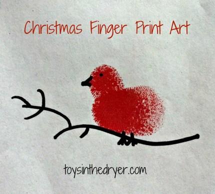 Finger Print Art, Christmas Art, Christmas Finger Print Art