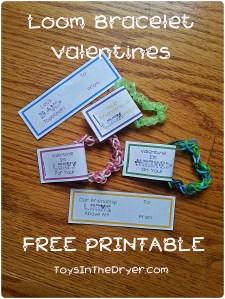 loom bracelet valentine printable