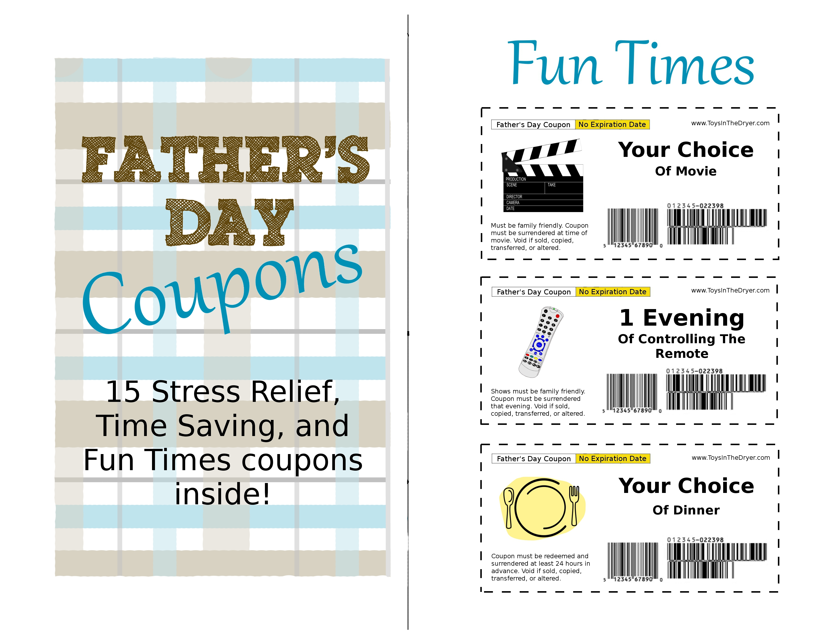 Free Father S Day Printable Coupons