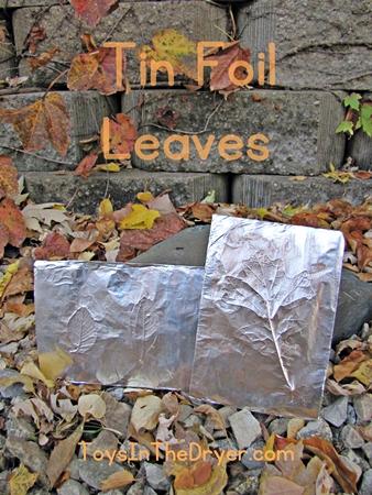 Tin Foil Leaves