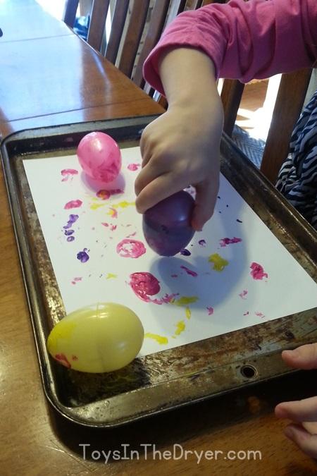 Plastic egg spin art (Easter Egg spin art)