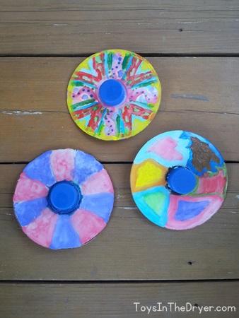 DIY CD spinning top