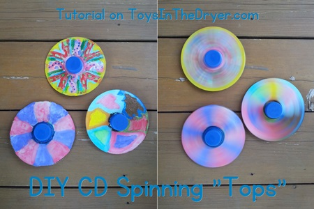 DIY CD Spinning Tops