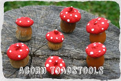 acorn crafts, acorn toadstools