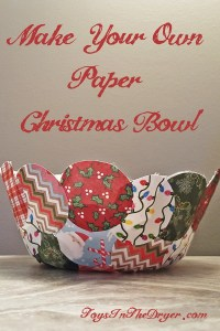 Make Your Own Paper Bowl – Christmas Decor