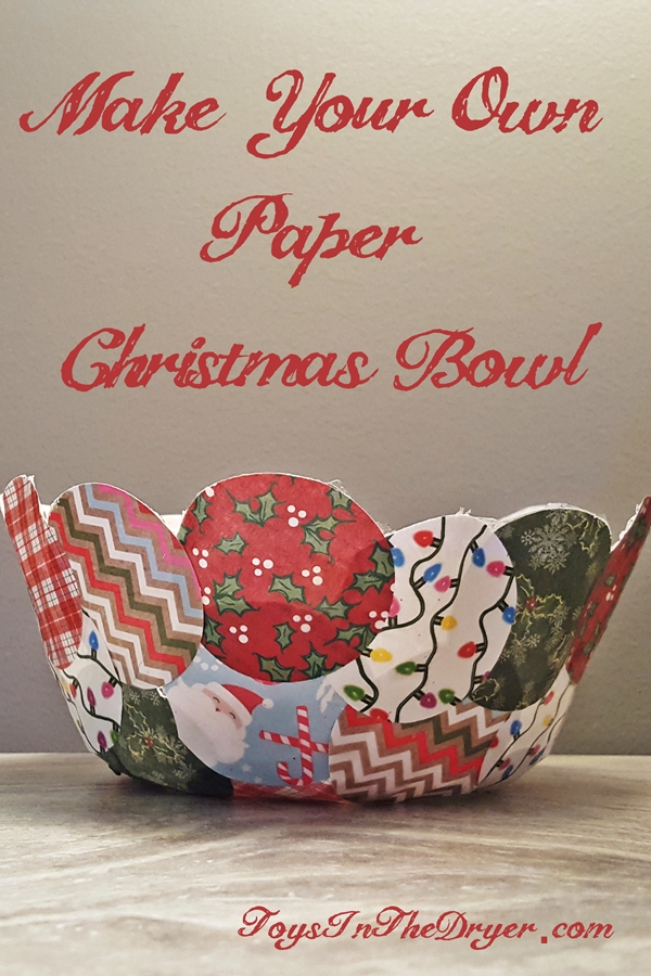 Make Your Own Paper Bowl - Christmas Decor