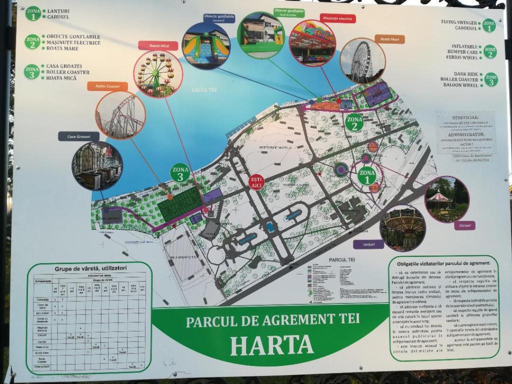 harta parcului de distractie TEI