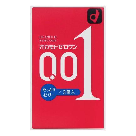 OKAMOTO 岡本 0.01 潤滑劑加量安全套 (日本版) – 3片裝