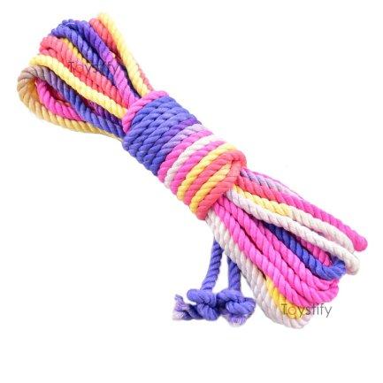 竹纖維高級捆綁繩 6mm – 派對色 8米
