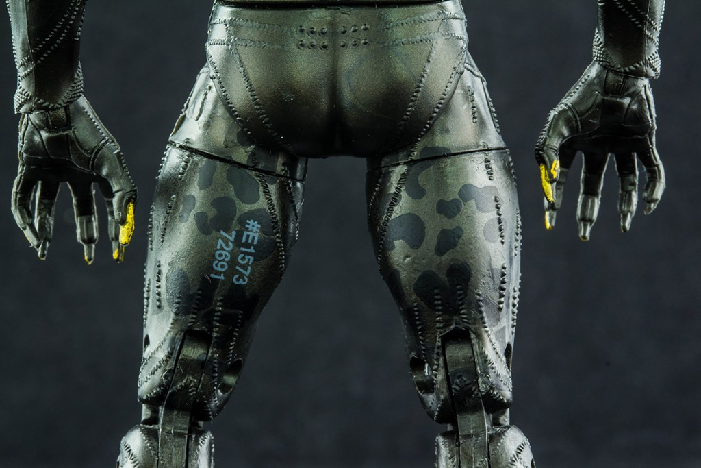 Erik Killmonger back of legs close up