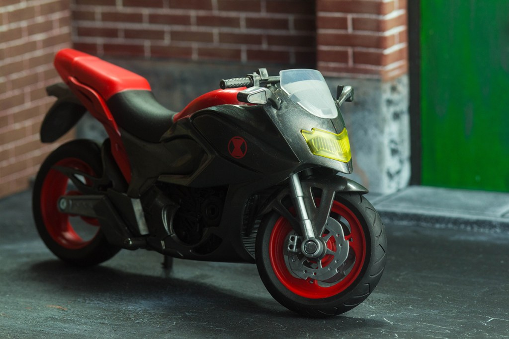 Marvel Legends Black Widow and Motorcycle