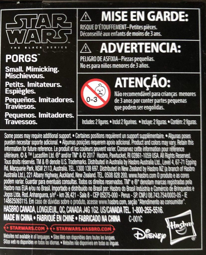 Star Wars Black Series Porgs