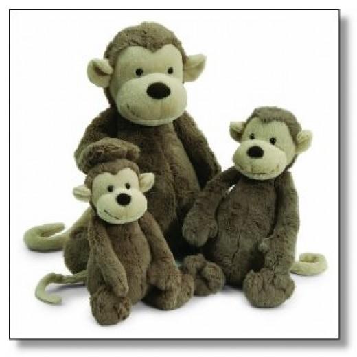 Jellycat Plush monkeys