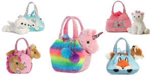 Aurora World Fancy Pals Pets with Pet Carrier Purses