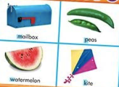 Part of a BINGO game that can be used for initial letter sounds.