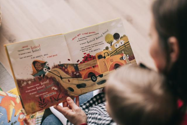 Mother and toddler reading a picture book together. This is the most effective way of preparing your child to read and ensure lifelong success.