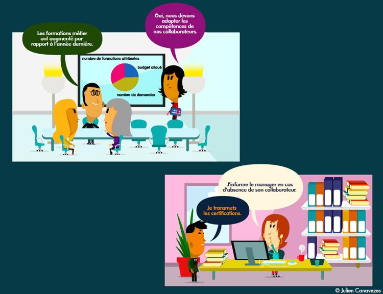 illustration de salarié en réunion