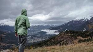 山の天気,雨