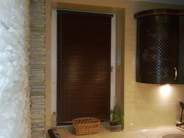 Żaluzje drewniane Mieszkanie Bemowo