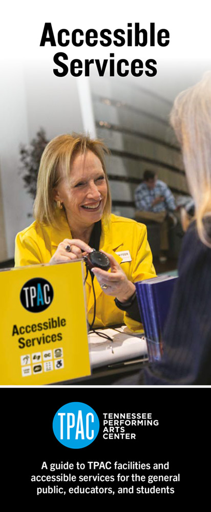 TPAC's Accessible Services brochure