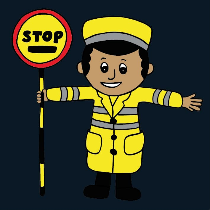 Lollipop Man ThermoPlastic Designs And Lines
