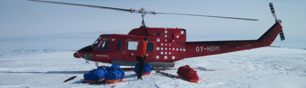 Drop-off on Greenland icecap