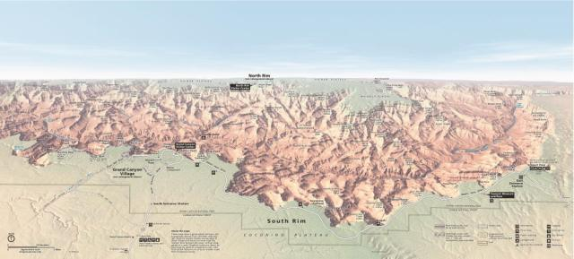 Grand Canyon Panorama Map