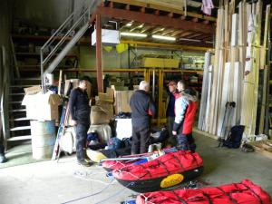 Preparing gear