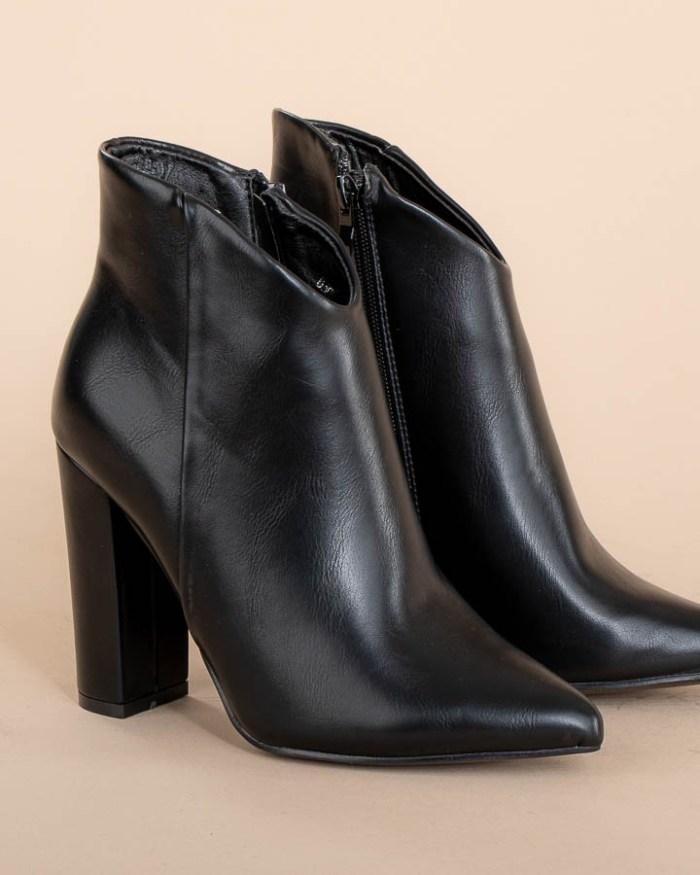 Bottines pour femme en simili cuir