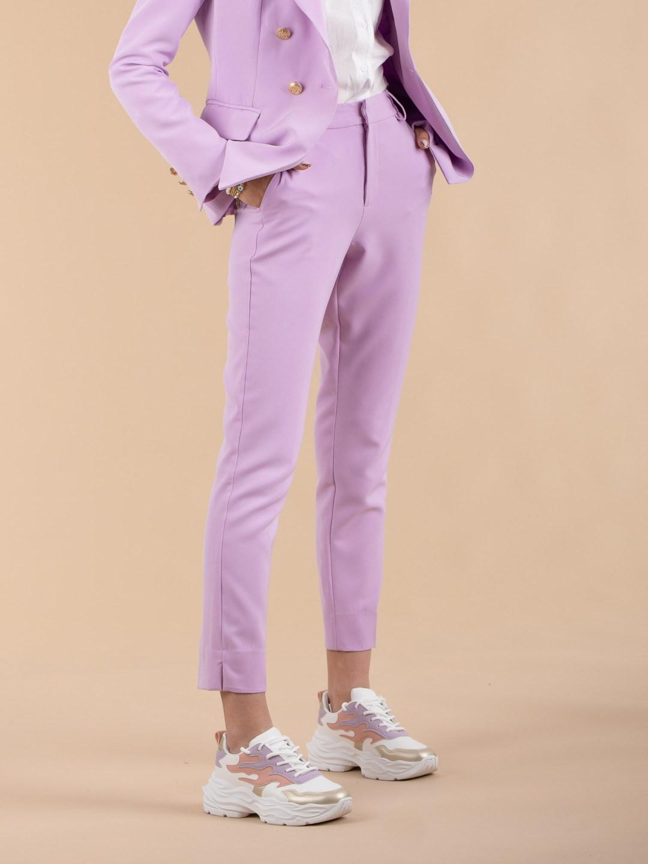 Pantalon lilas femme