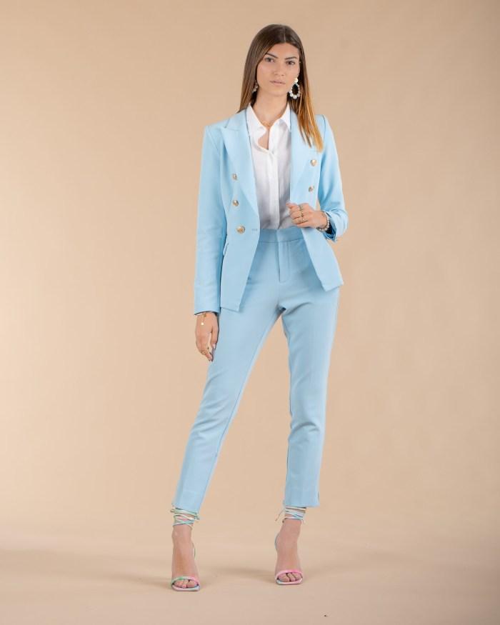 Veste bleu clair pour femme