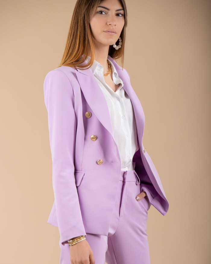 Veste blazer femme lilas