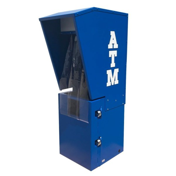 Sloped top ATM Security Enclosure
