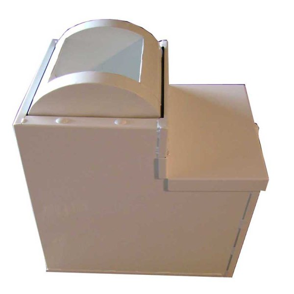18 in. mobile roll top cash drop safe