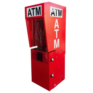 Outdoor ATM Security Enclosure with Lighted Topper - TPI Texas