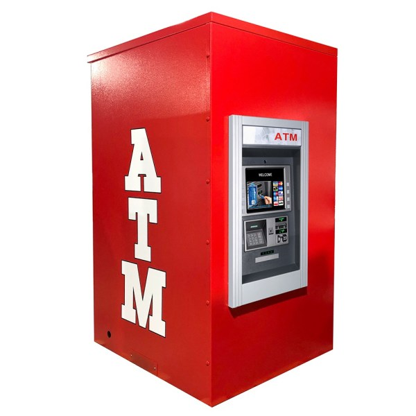 Genmega GT5000 Drive up ATM Kiosk Enclosure Back Panel Graphics