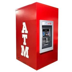 Genmega GT5000 Drive up ATM Kiosk Enclosure Back Panel Graphics