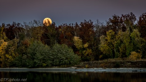Fall Moon Rising Connecticut River - Click To Enlarge